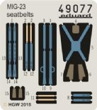 ED49077 1/48 Mikoyan MiG-23 Fabric Seatbelts (Trumpeter)